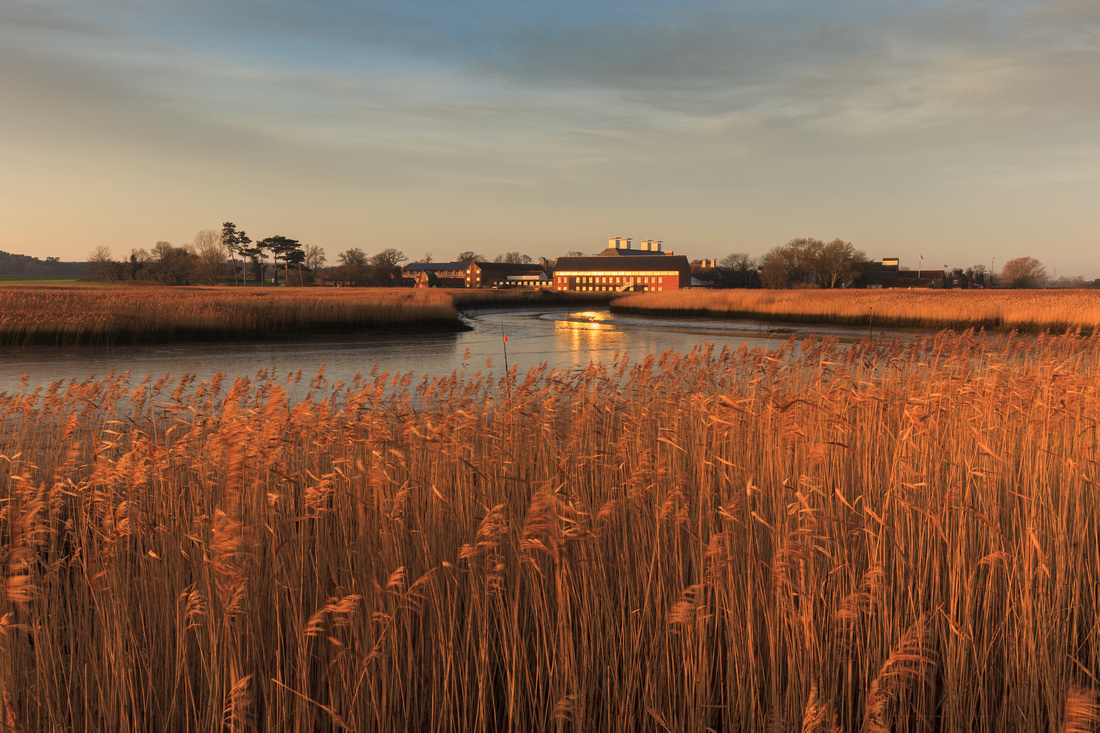 Snape Maltings seen from the River Alde, Suffolk