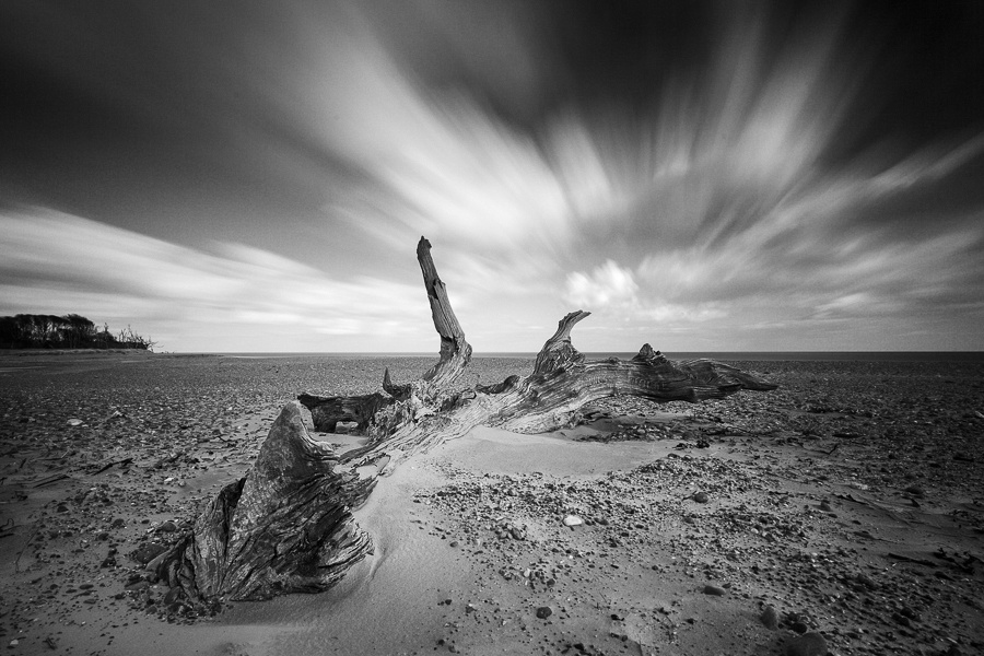 Long exposure of Covehithe beach, Suffolk