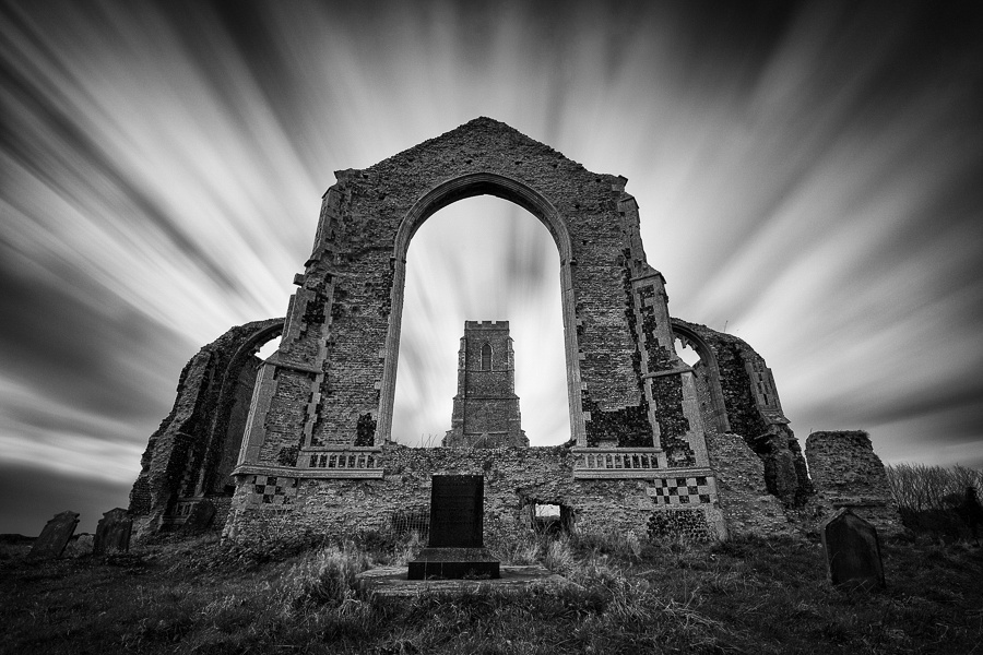 LOng exposure of covehithe church