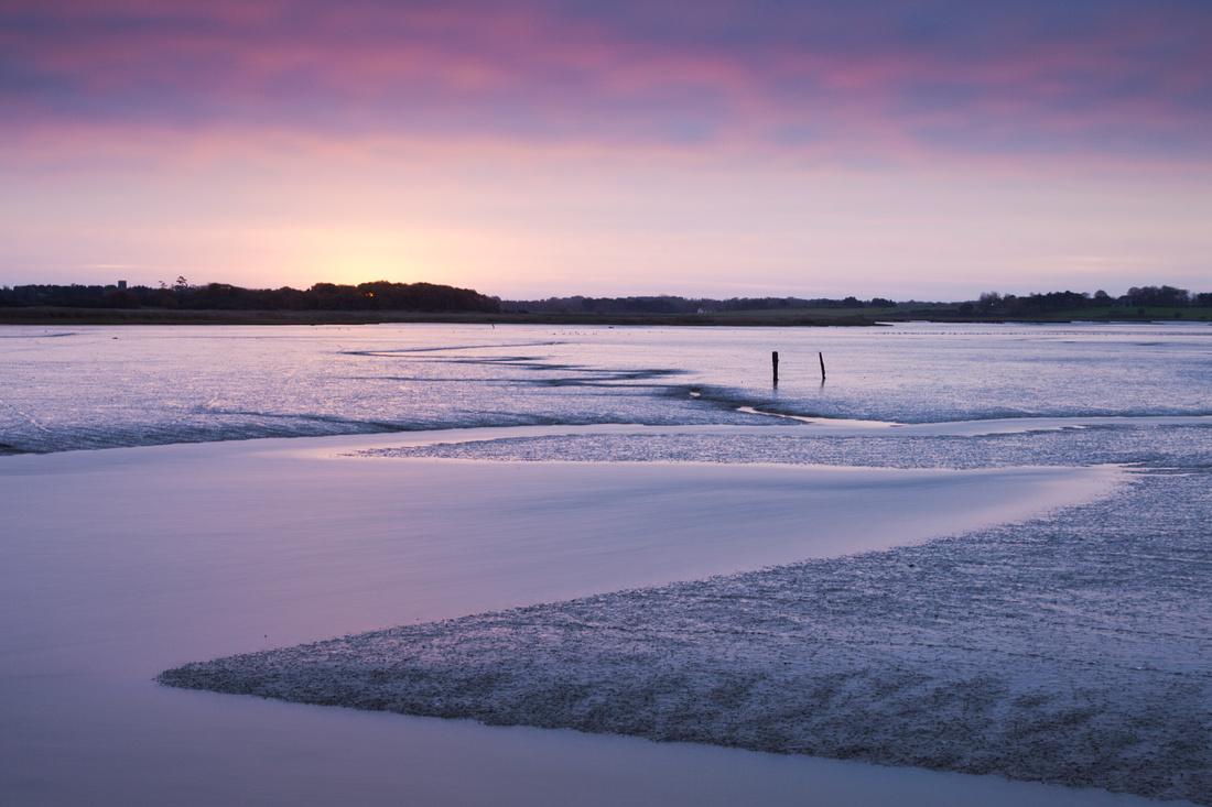A change of direction - River Alde, Suffolk